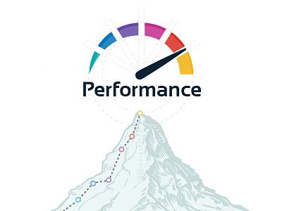 'Performance' Logo Design succes high performance car indicator color scheme color palette logo for sale logotype inspiration logo design colored paint performing performance perform