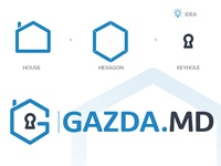 'GAZDA.MD' Logo Design