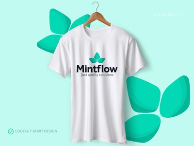 T-shirt and Logo Design 'Mintflow'