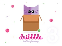 Hey friends! I have three Dribbble Invites Giveaway.
