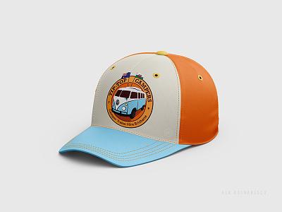 'Tip-Top Caravan' Logo Design. kombilife mockup hoddies australia cap designlogo logodesigner camperlogo vintagecamper camperlife capdesign vwkombi vanlife campervan camper rv caravanlife camping caravanhire caravan