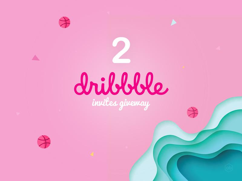I have 2 Dribbble invites! Do you need it? designers portfolio 2 invites giveway pink dribbble invites