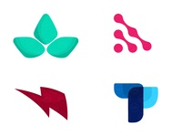 Collection of abstract logos