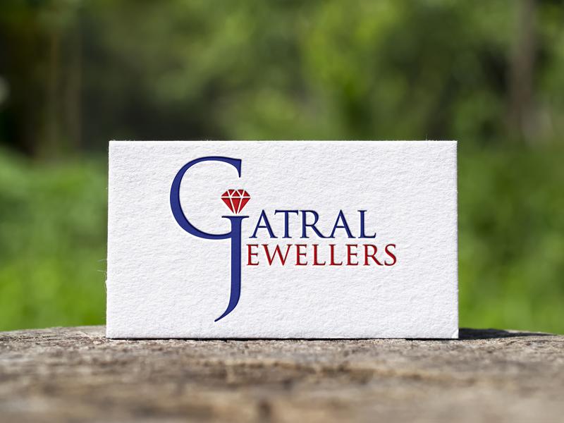 Gatral Jewellers logo design branding graphicdesign divyagraphics logodesign logo