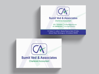 Sumit Ved & Associates business card design illustration visitingcard divyagraphics graphicdesign design businesscard