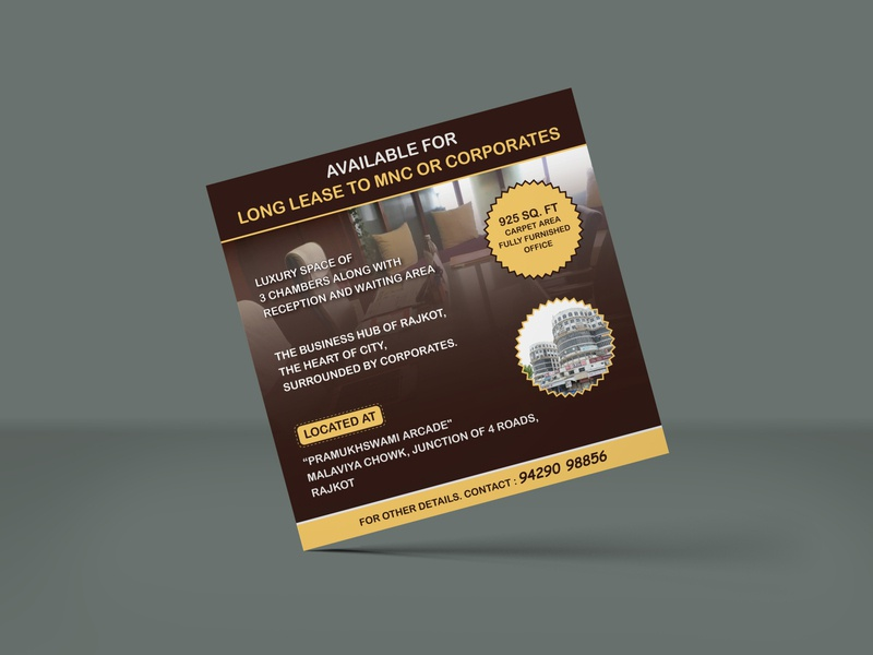 Office Long Lease Advertisement graphicdesign divyagraphics advertisement design