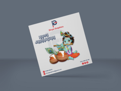 Janmashtami Greeting divyagraphics graphicdesign