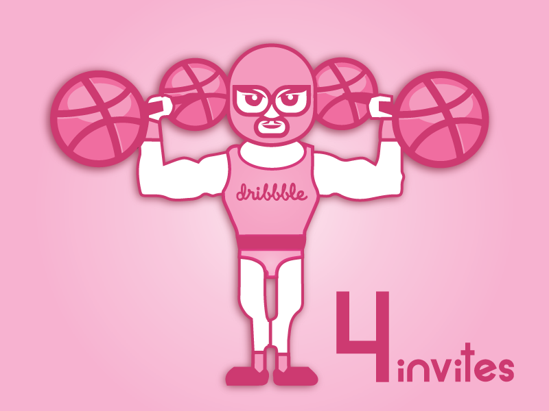 Dribbble invites 4 invites dribbble invitation designadet