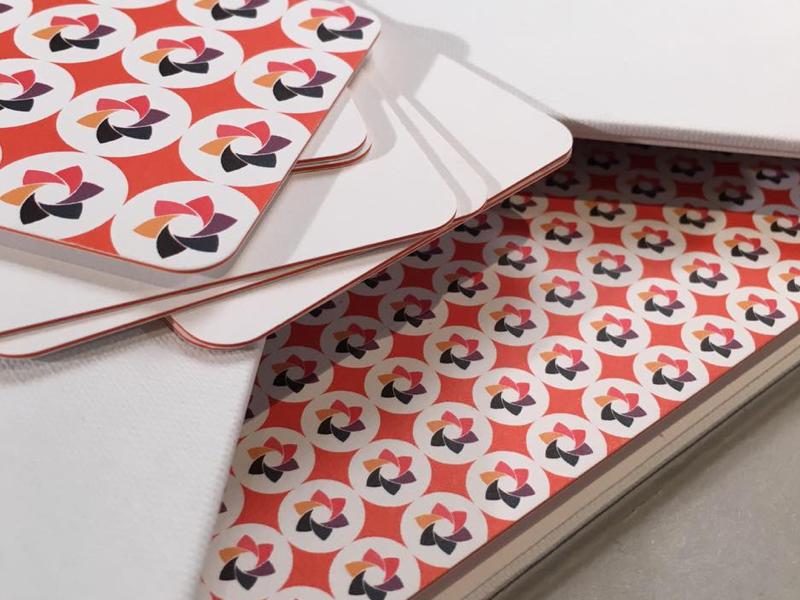 brand designadet print paper bussinescar logo feel touch brand