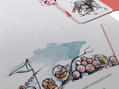 brand designadet note illustration pattern brand branding logo businesscard paper