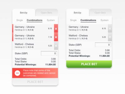 Betslip combination single system varning tab bets open betting online sportsbook betslip