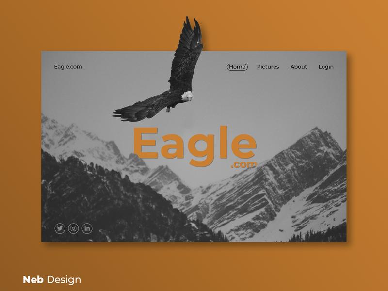 Eagle web design design graphic designer website design gray eagle web social media design website ui design ui web design neb design