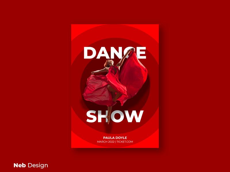 Dance Show billboard design art poster art graphic design red dance poster design poster billboard design billboard ui design ui web design neb design