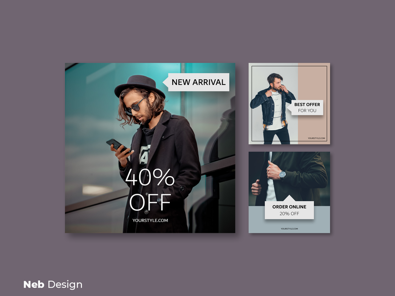 Men's fashion instagram post design template branding men fashion style fashion social media design social media branding social media poster design instagram template instagram post instagram neb design