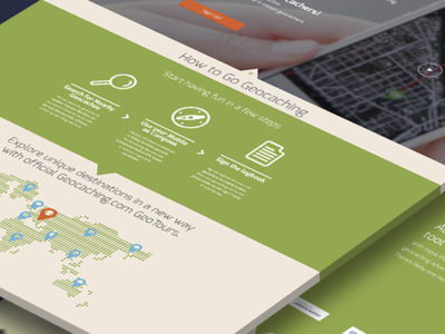 Geocaching Landing Page - Redesign