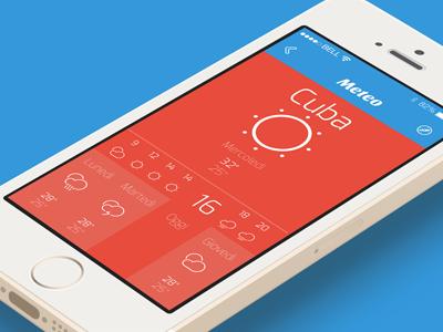 Cuba 4U App Concept - IOS - Meteo Page