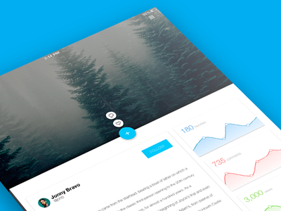Flickr Profile Page - Material Concept - Full