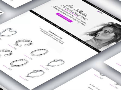 Ella jewelry - Ecommerce animation graphic design website minimal flat web ui ux design app