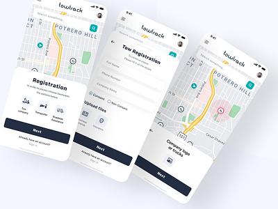 Vehicle Service App clean icon illustrator graphic design minimal flat ux ui design app