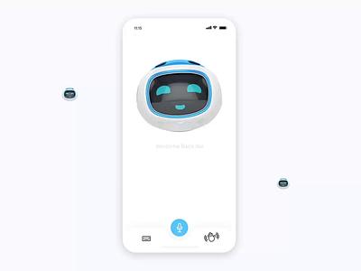 Virtual Assistance - AR virtual animation flat minimal app ux ui design
