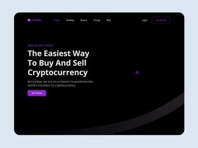 CoinBas - Cryptocurrency Company landing page website animation graphic design minimal design flat app ux ui blockchain bitcoin cryptocurrency crypto