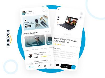 Redesign Amazon App shop ecommerce design flat prototype graphic design app minimal amazon ux ui
