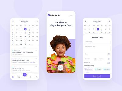 Calendar app design mobile tasks design concept ux ui challenge app calendar