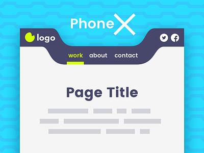 Phone X – Mobile Header Template flat mobile iphonex