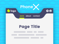 Phone X – Mobile Header Template