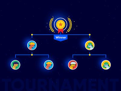Tournament design smooozy illustration flat