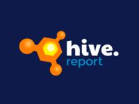 Hive Report logo design logo flat smooozy branding design