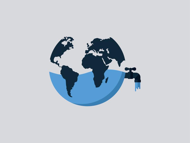 There is no plan B! water. logo icon flaticon flatdesign design earth