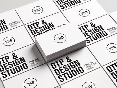 224D - DTP & DESIGN STUDIO businesscard studio adobe logo branding design brand