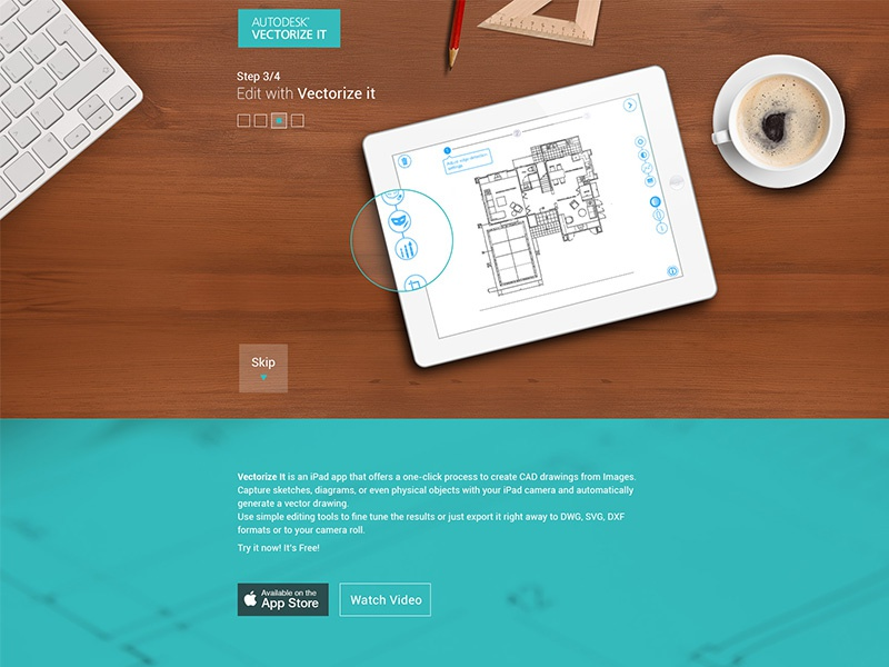 vectorize it- Autodesk, Inc  by Einav McKennary on Dribbble