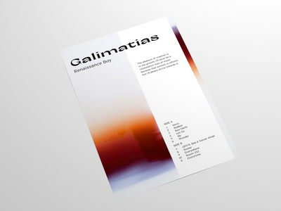 Renaissance Boy album inspired poster photography music art print poster layoutdesign layout typography film photography design photoshop