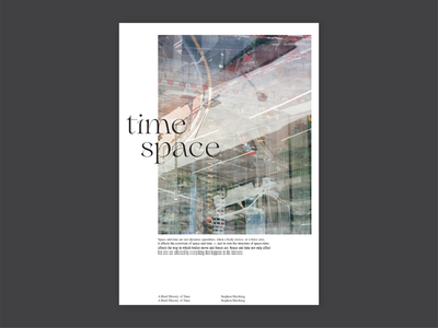 Time / Space poster _ alt print photography poster layoutdesign layout typography film photography design