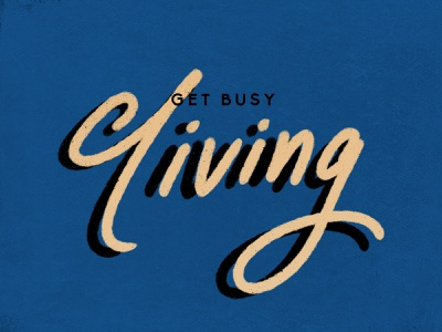 Get Busy Living living resolution newyear dribbbleweeklywarmup graphicdesign photoshop procreate lettering handlettered handlettering typography design