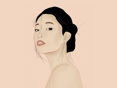 Chinese girl lovely illustration procreate girl illustration chinese