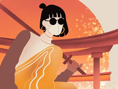 Shanghai covid girl illustration chinese illustration procreate
