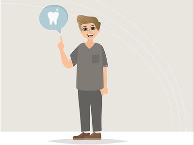For dental clinic 🦷 grey doctor dentistry toothpaste tooth illustrator boy anime dentist clinic dental