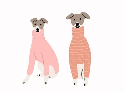 Sweater weather 🧶🎄 procreate illustrator sweaterweather dogs sweaters