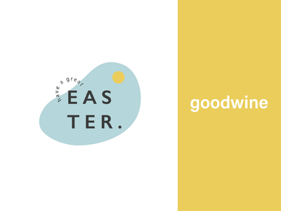 Easter branding for GoodWine poster branding vector illustrator