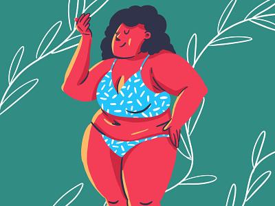 sweet shape body shape panties woman illustration