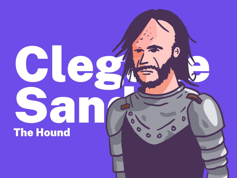 Clegane winterfell vector illustration got game of trhones the hound clegane