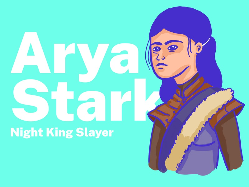 Arya Starck winterfell game of thrones got illustration westeros stark arya