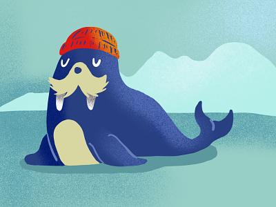 Novembre 2019 procreate illustration walrus ice cold