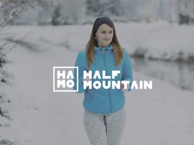 HALF MOUNTAIN vector minimal logo ilustrator icon flat desing branding