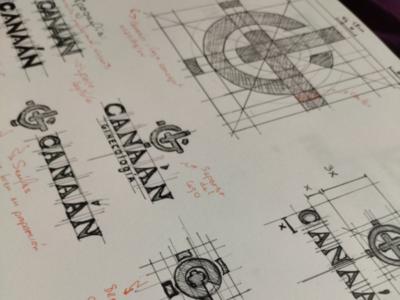Bocetos canaán branding bocetos logo ilustración