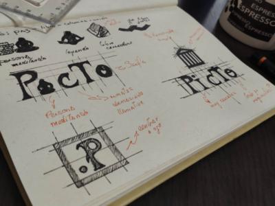 Concepto brand desing type typography modern logo branding