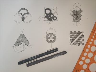 bocetos draw bocetos boceto minimal icon flat brand desing logo branding